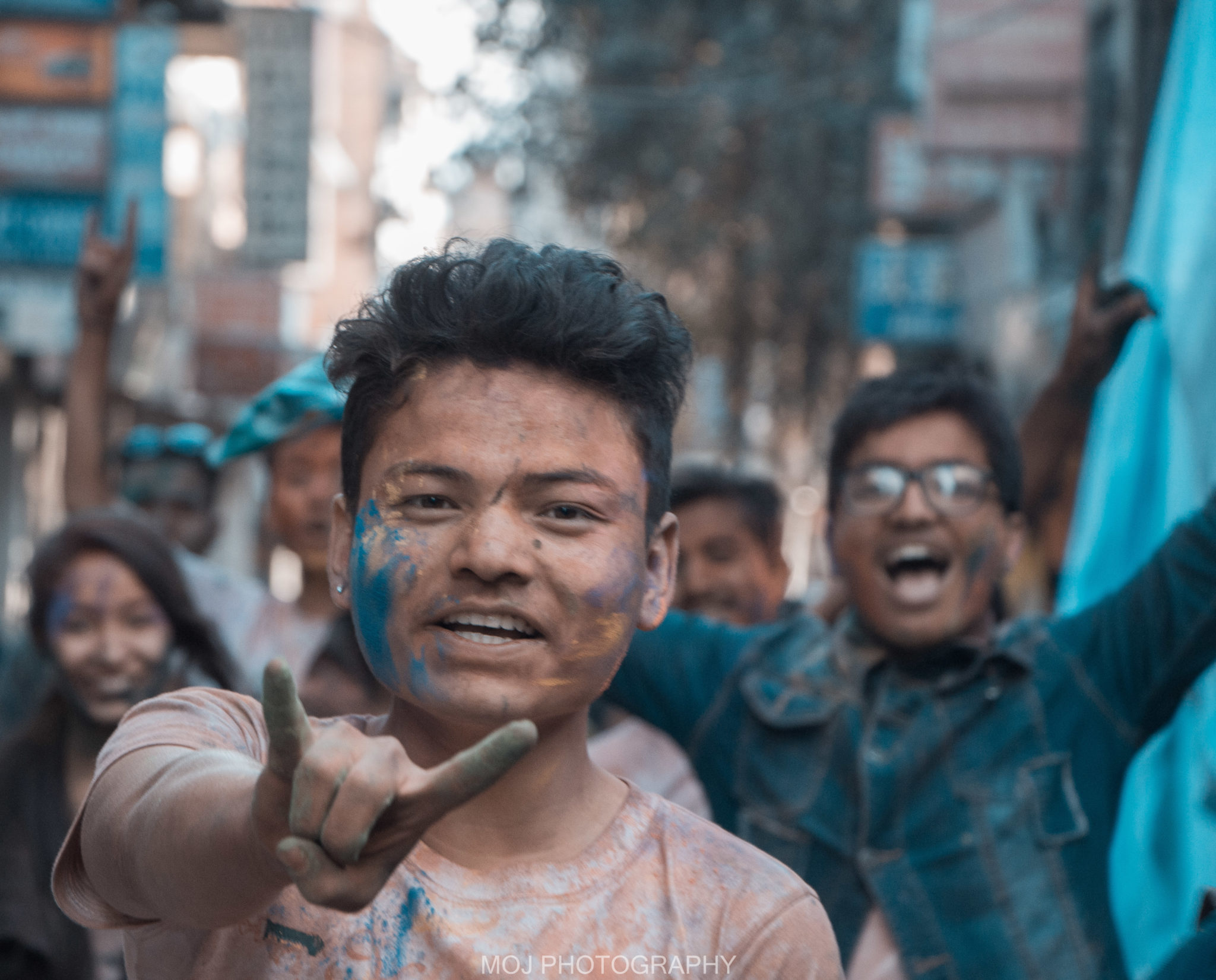 Holi celebration in Nepal